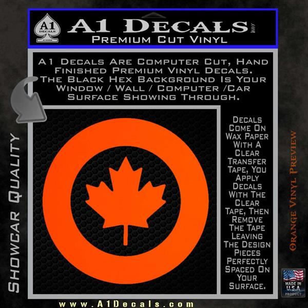 RCAF Royal Canadian Air Force Canada Decal Sticker  A Decals - Custom vinyl wall decals canada   how to remove