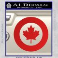 RCAF Royal Canadian Air Force Canada Decal Sticker Red Vinyl 120x120