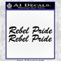 Rebel Pride 2pk Decal Sticker Confederate Black Logo Emblem 120x120