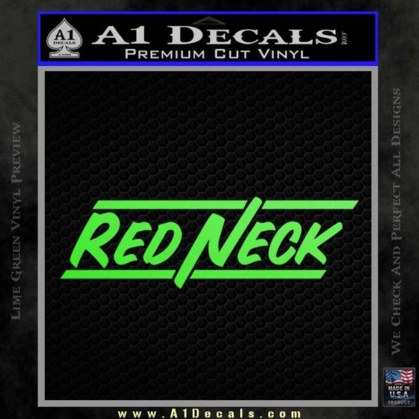 Redneck Decal Sticker Vzl 187 A1 Decals