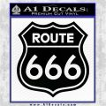Route 666 Decal Sticker Black Logo Emblem 120x120