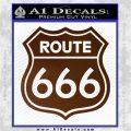 Route 666 Decal Sticker Brown Vinyl 120x120