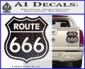 Route 666 Decal Sticker Carbon Fiber Black 120x97