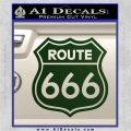 Route 666 Decal Sticker Dark Green Vinyl 120x120