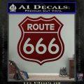 Route 666 Decal Sticker Dark Red Vinyl 120x120