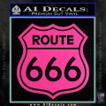 Route 666 Decal Sticker Hot Pink Vinyl 120x120