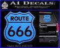Route 666 Decal Sticker Light Blue Vinyl 120x97