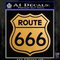 Route 666 Decal Sticker Metallic Gold Vinyl 120x120