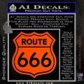 Route 666 Decal Sticker Orange Vinyl Emblem 120x120