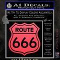 Route 666 Decal Sticker Pink Vinyl Emblem 120x120