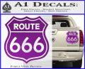 Route 666 Decal Sticker Purple Vinyl 120x97