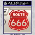 Route 666 Decal Sticker Red Vinyl 120x120
