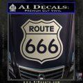 Route 666 Decal Sticker Silver Vinyl 120x120