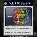 Route 666 Decal Sticker Sparkle Glitter Vinyl 120x120