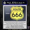 Route 666 Decal Sticker Yelllow Vinyl 120x120