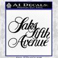 Saks fifth avenue Logo RDZ Decal Sticker Black Logo Emblem 120x120