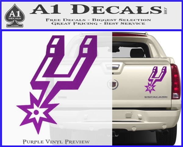 San antonio spurs decal sticker so purple vinyl 120x97