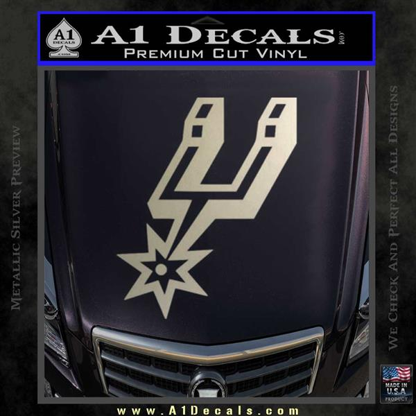 San antonio spurs decal sticker so silver vinyl 120x120