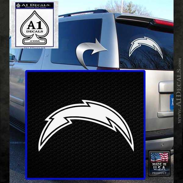 San Diego Chargers Car Decals: San Diego Chargers NFL Bolt Decal Sticker » A1 Decals