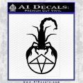 Scorpion Pentagram Decal Sticker Black Logo Emblem 120x120