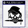Skull Bullet Decal Sticker Army Black Logo Emblem 120x120