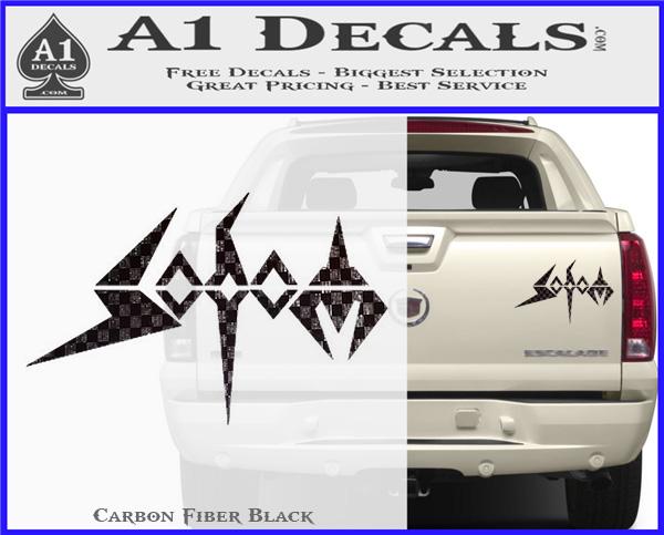 Sodom Warrior Music Car Bumper Sticker Decal 3/'/' or 5/'/'