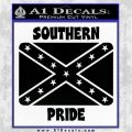 Southern Pride Rebel Flag Vinyl Decal Sticker Black Logo Emblem 120x120