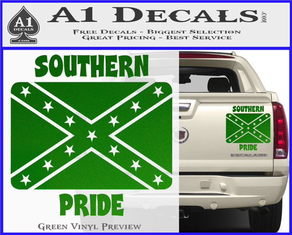 Southern Pride Rebel Flag Vinyl Decal Sticker A Decals - Vinyl decal pricing