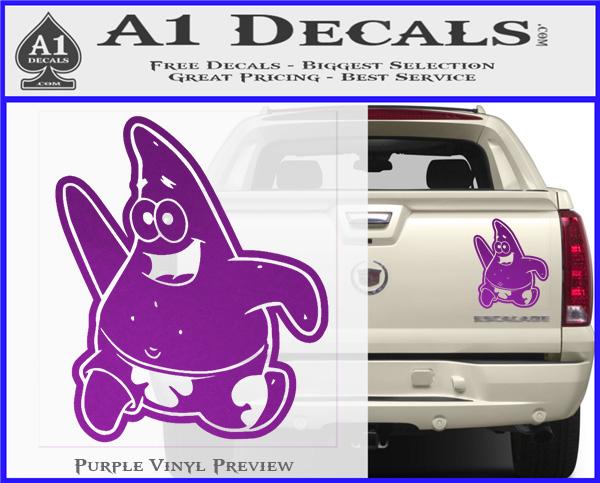 Spongebob Patrick Decal Sticker A Decals - Spongebob decals for cars