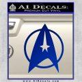 Star Trek Starfleet Decal Sticker D11 Blue Vinyl 120x120