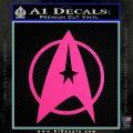 Star Trek Starfleet Decal Sticker D11 Hot Pink Vinyl 120x120