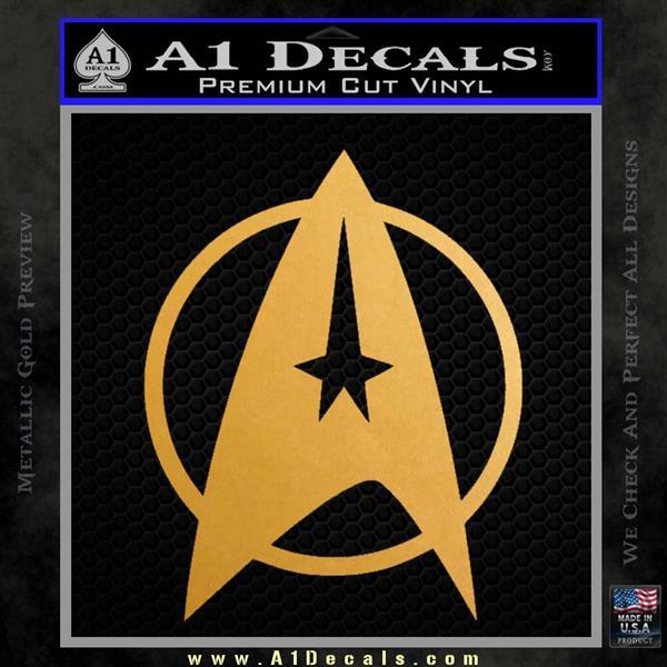Star Trek Starfleet Decal Sticker D11 Metallic Gold Vinyl