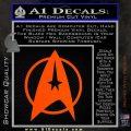 Star Trek Starfleet Decal Sticker D11 Orange Vinyl Emblem 120x120