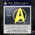 Star Trek Starfleet Decal Sticker D11 Yelllow Vinyl 120x120