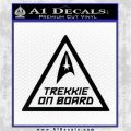 Star Trek Trekkie On Board Vinyl Decal Black Logo Emblem 120x120