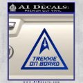Star Trek Trekkie On Board Vinyl Decal Blue Vinyl 120x120