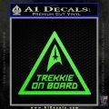 Star Trek Trekkie On Board Vinyl Decal Lime Green Vinyl 120x120