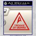 Star Trek Trekkie On Board Vinyl Decal Red Vinyl 120x120