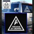 Star Trek Trekkie On Board Vinyl Decal White Emblem 120x120
