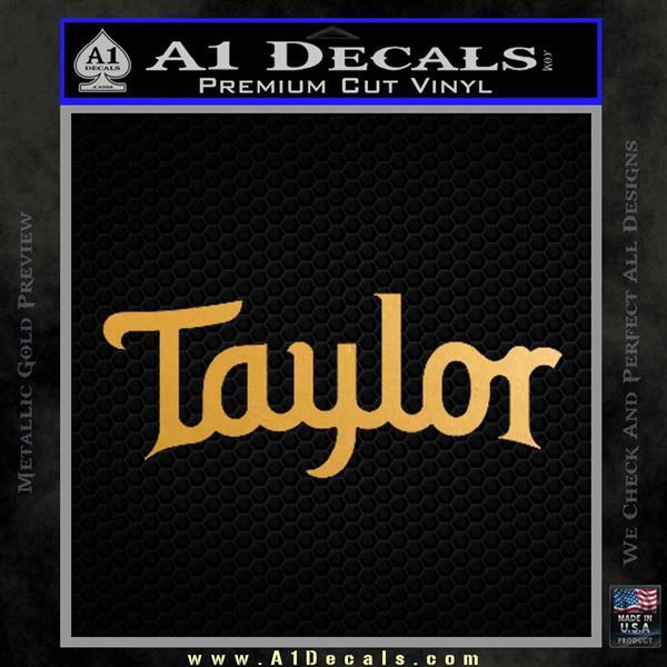 Taylor Guitars Logo Vinyl Decal Sticker 187 A1 Decals