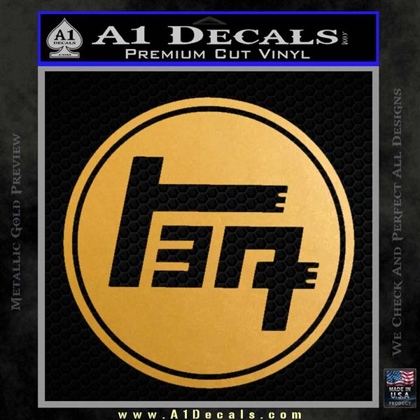 Teq toyota japanese racing trd decal sticker metallic gold vinyl