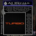 TURBO 3 DLB Decal Sticker Orange Vinyl Emblem 120x120