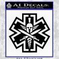 Tactical Medic EMT Decal Sticker Spartan Black Logo Emblem 120x120