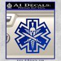 Tactical Medic EMT Decal Sticker Spartan Blue Vinyl 120x120