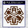 Tactical Medic EMT Decal Sticker Spartan Brown Vinyl 120x120