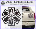 Tactical Medic EMT Decal Sticker Spartan Carbon Fiber Black 120x97