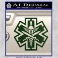 Tactical Medic EMT Decal Sticker Spartan Dark Green Vinyl 120x120