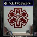 Tactical Medic EMT Decal Sticker Spartan Dark Red Vinyl 120x120