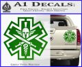 Tactical Medic EMT Decal Sticker Spartan Green Vinyl 120x97