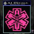 Tactical Medic EMT Decal Sticker Spartan Hot Pink Vinyl 120x120